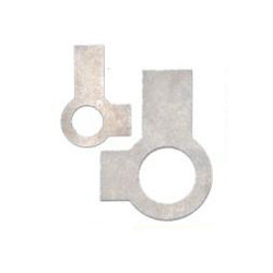 Titanium Tab Washers with Short and Long Tab at Right Angles